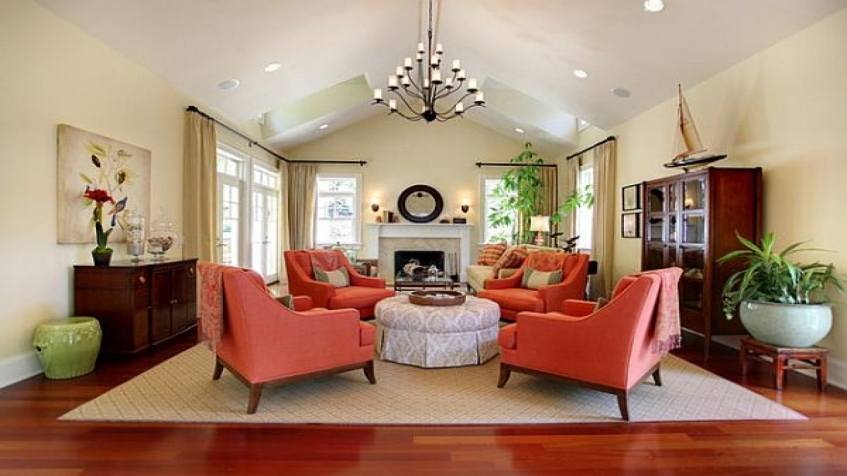 Pantone coral-and-blue-decorating-ideas-coral-living-room ...